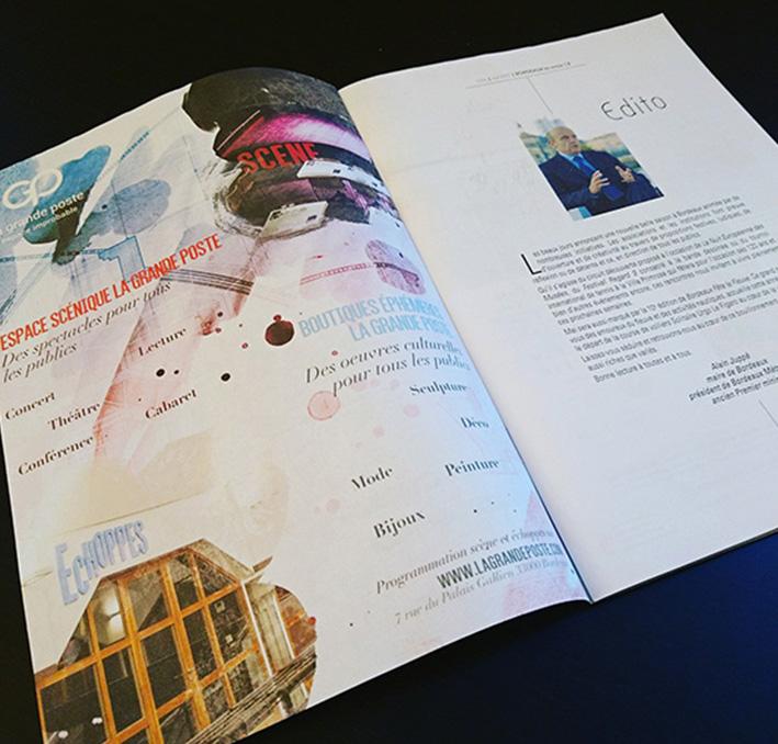 Création d'une publicité magazine pleine page pour La grande poste