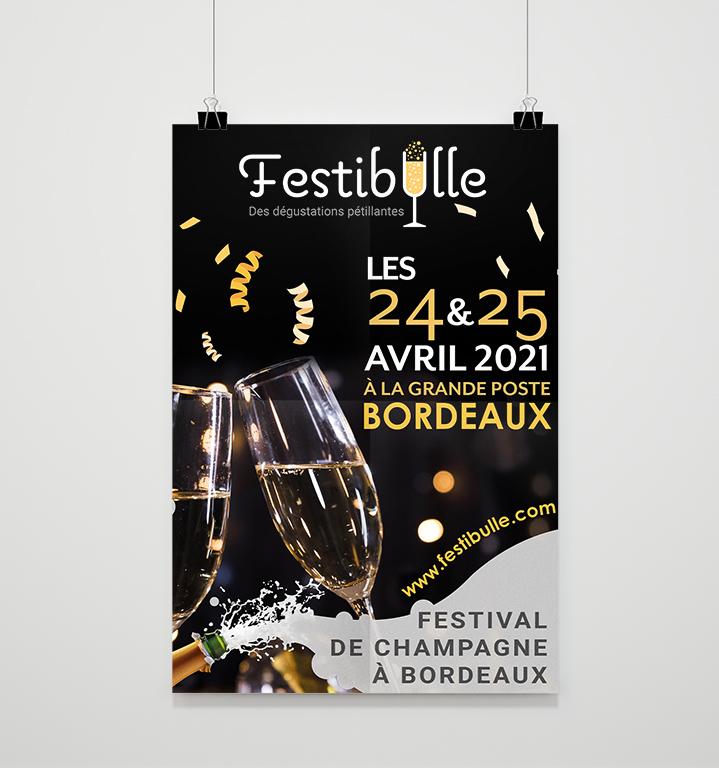 Affiche Festibulle Festival de Champagne Bordeaux