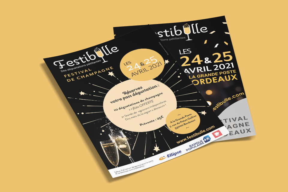 festibulle flyers festival de champagne Bordeaux