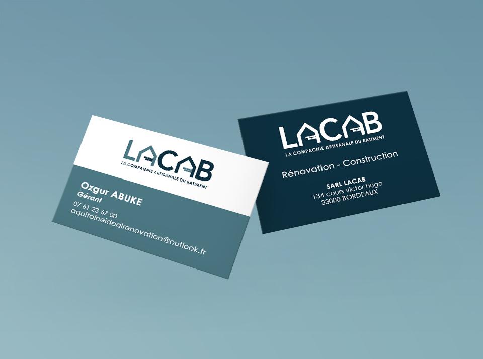 Carte de visite LACAB, Compagnie Artisanale du Bâtiment